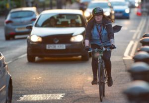 Bike Riders Weigh Less Than Car Drivers